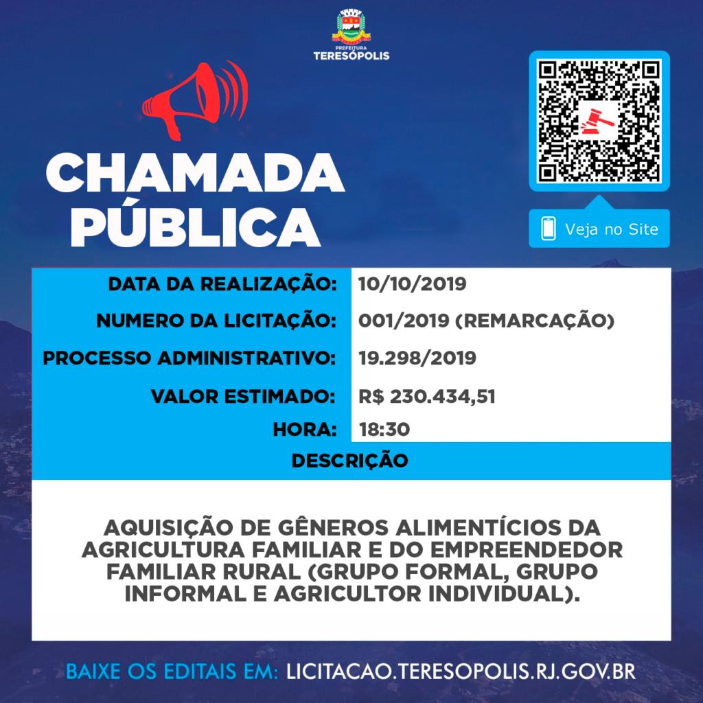 Chamada Pública 001-19